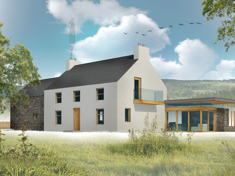 Get the planning drawings for this house for 600 contact for Modern irish house architecture