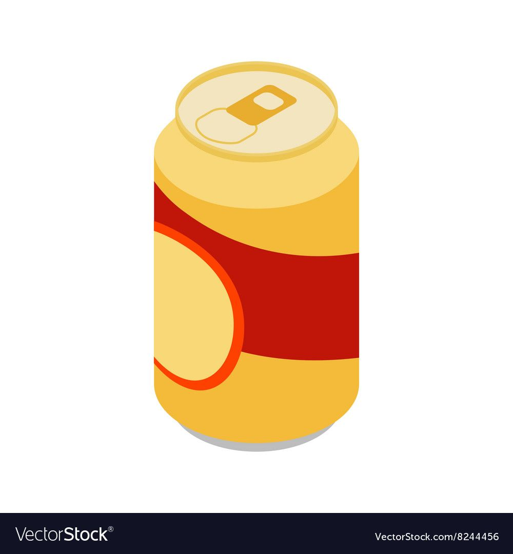 Beer Can Icon Isometric 3d Style Royalty Free Vector Image Beer Can Isometric Vector Free