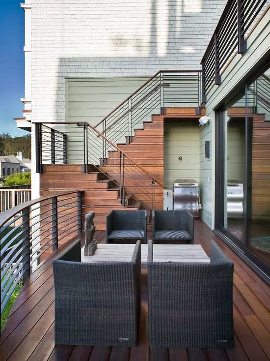 Contemporary Exterior Stair Railing Design Pictures Remodel