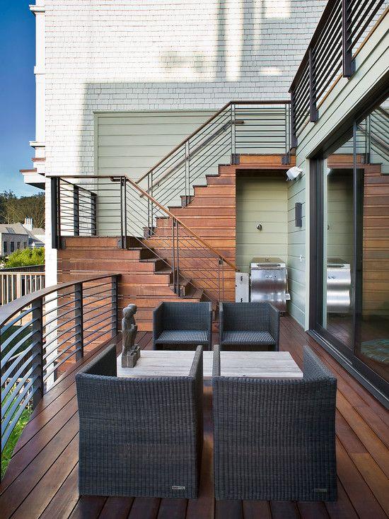 Contemporary +exterior +stair +railing Design, Pictures ...