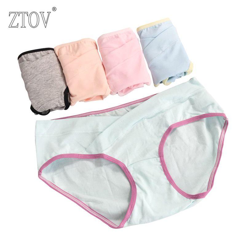 0fce4a9d08a 5Pcs lot Cotton Maternity Panties For Pregnant Women Underwear U-Shaped Low  Waist Pregnancy