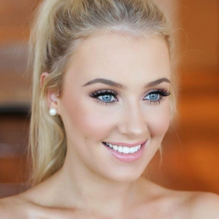 Ideen Leichtes Braut Make Up Blaue Augen Wedding Makeup