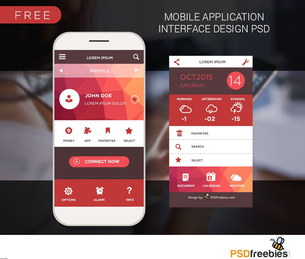 Home Designing App: Download Mobile Home Screen UI Design Free PSD. A Nice