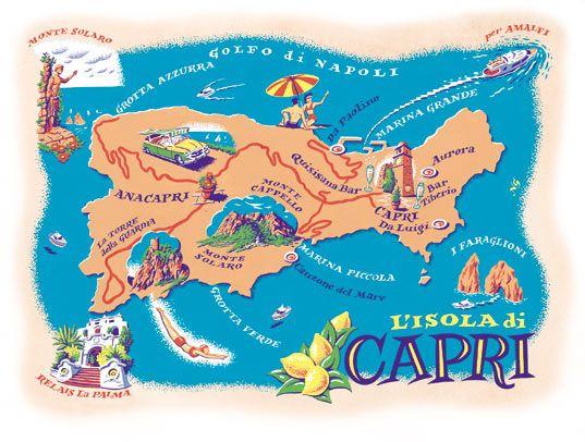 Neil Gower Map Of Capri Interesting Maps Of Italy Pinterest