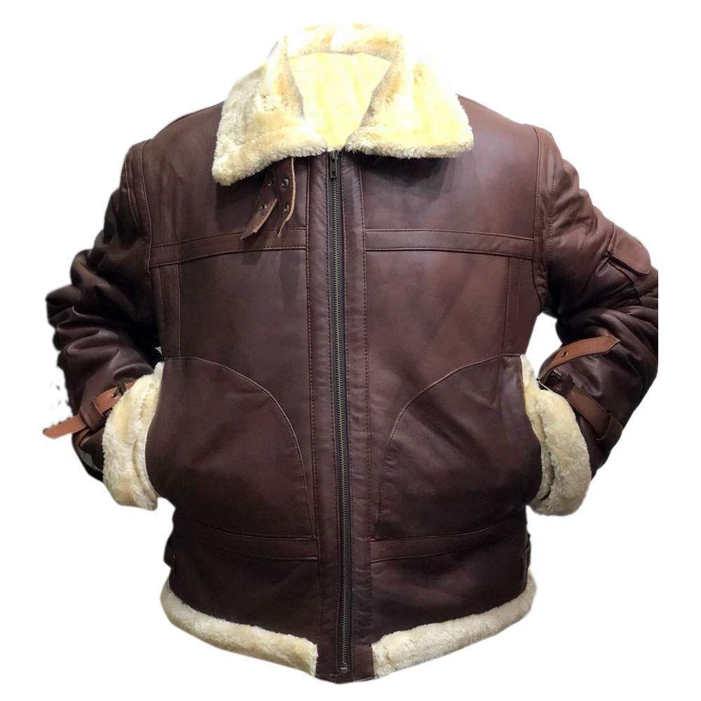 Mens Aviator B3 Sheepskin Brown Leather Bomber Jacket Brown Leather Bomber Jacket Leather Jacket Men Brown Leather Jacket [ 1000 x 1000 Pixel ]