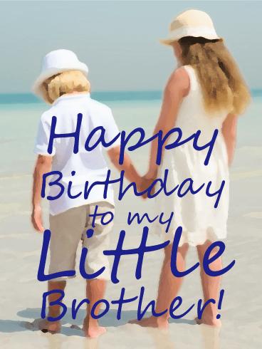 Memory Of My Little Brother Happy Birthday Card Happy Birthday