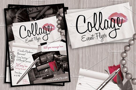 Collage Event Flyer by Lucion Creative on @creativemarket