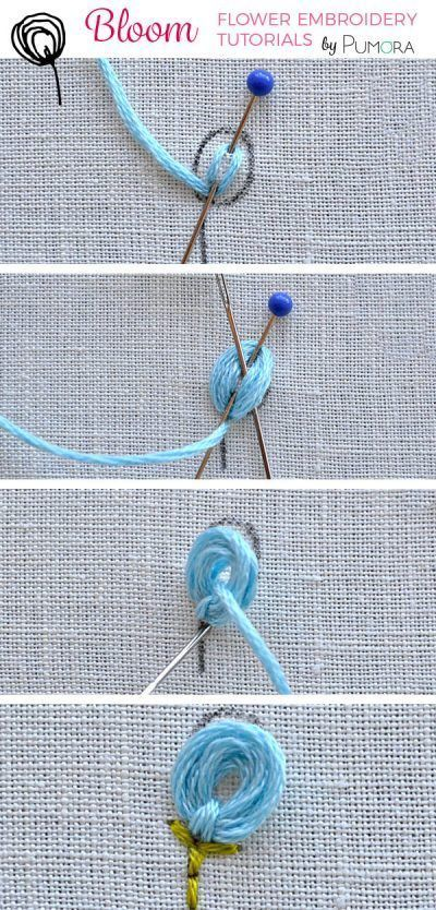 lollipop flower embroidery tutorial #ribbonflower