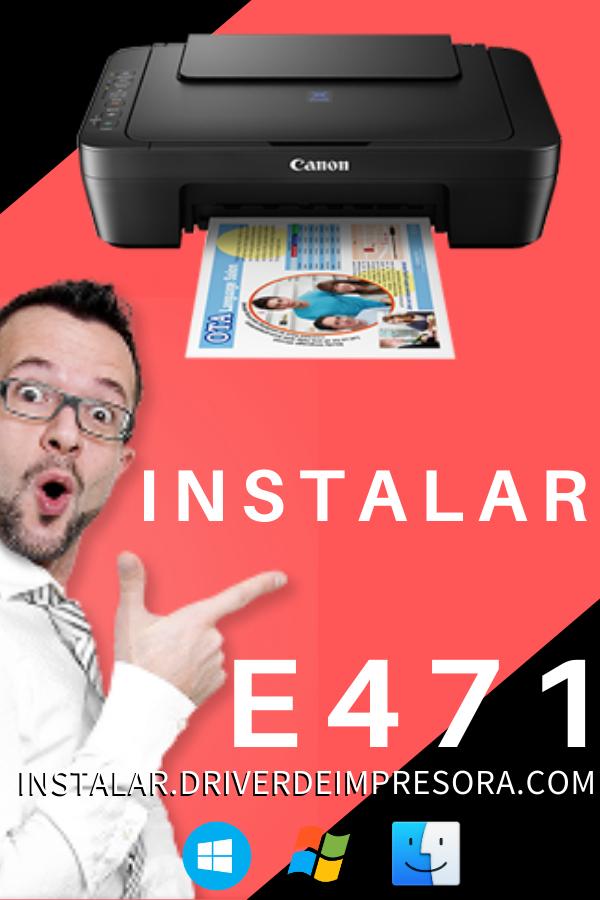 Instalar Una Impresora Canon E471 Canon