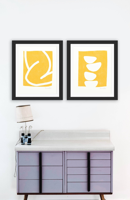Set Of 2 Prints, Abstract Art Prints, Large Wall Art,