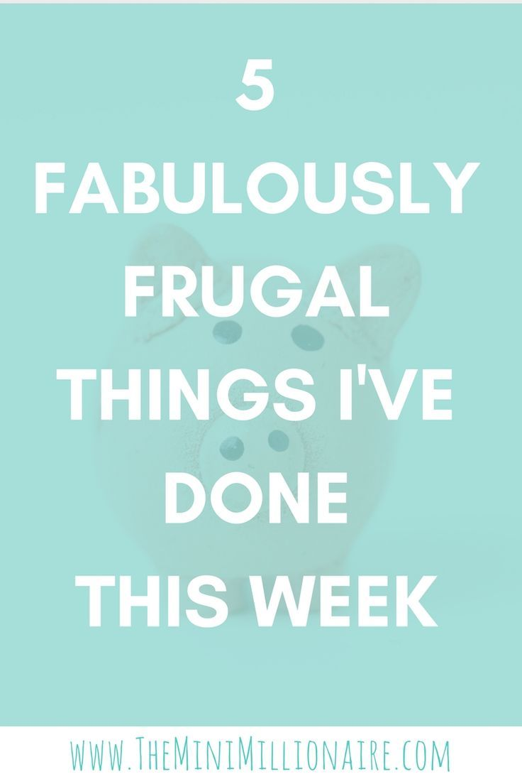 Let me help you save money with my thrifty tips for the week. This week I've given you five frugal things...