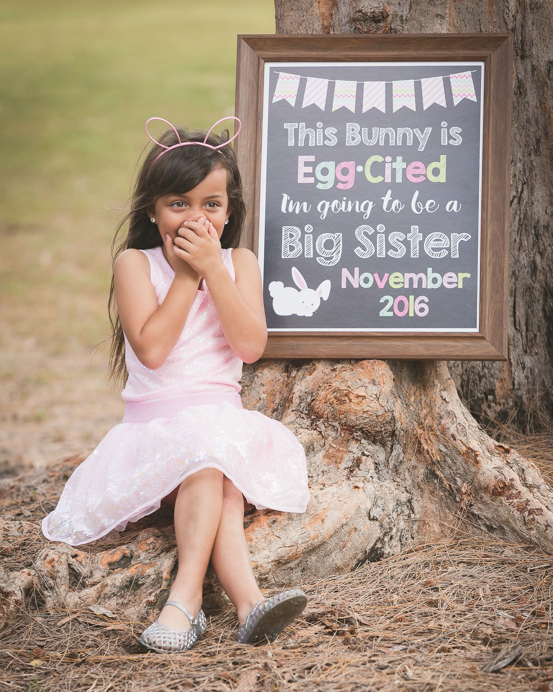 Big sister Easter pregnancy announcement