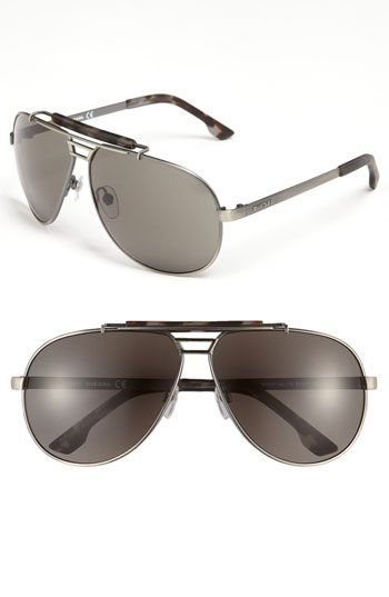 28429b6e6b DIESEL® Aviator Sunglasses available at Nordstrom