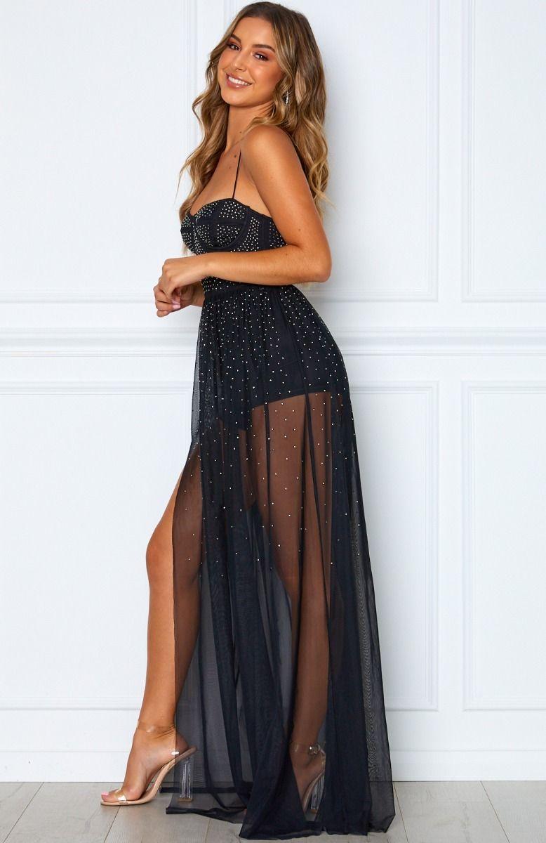 Casino Royale Mesh Maxi Dress Black | Dresses, Fashion