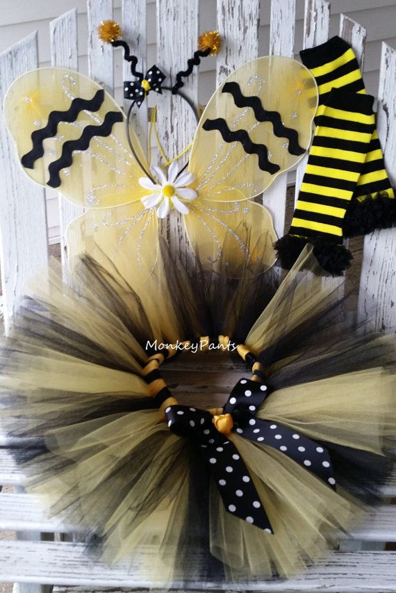 Hey I found this really awesome Etsy listing at //.etsy.com/listing/473826573/bumble-bee-costume-baby-girls -halloween & Bumble Bee Costume - Baby Girls Halloween Costume - Girls Bumble Bee ...