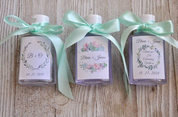 6 Hand Sanitizer Wedding Favors Any Design Fast Shipping