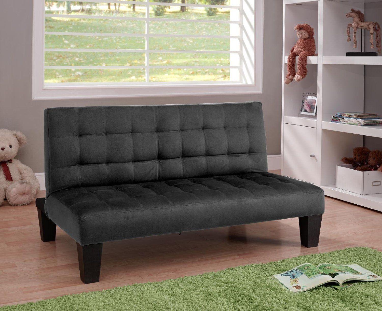 Amazon Com Dhp Ariana Junior Microfiber Futon Couch Full Black Kids Futon Futon Furniture