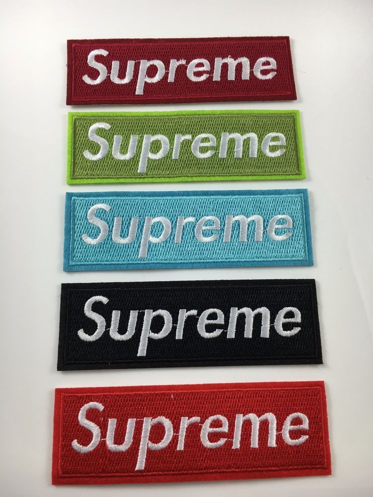 Multi Color Supreme Iron On Embroidered Patch Bonus Free Sticker Us Er Crafts Sewing Embellishments Finishes