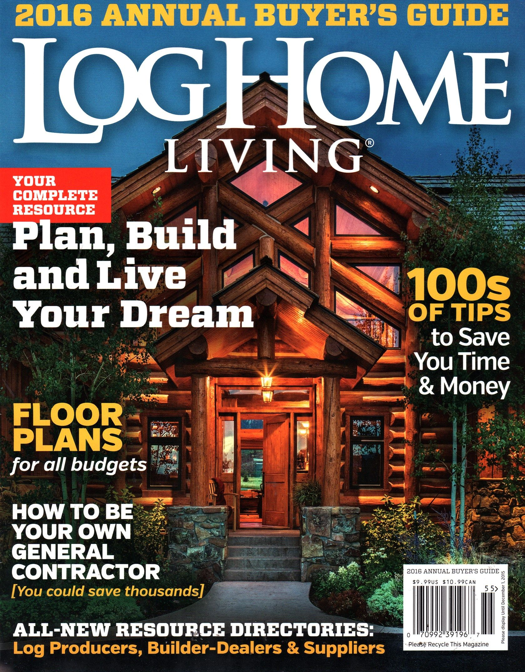 log home living cover for 10/1/2015 | ideas for the house