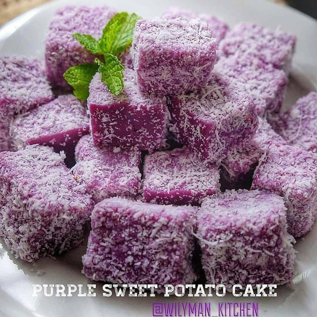 Resep Kue Jajanan Pasar Enak Memposting Di Instagram Purple Sweet Potato Cake By Wilyman Kitchen Simpel Bahannya Raspberry Food Fruit