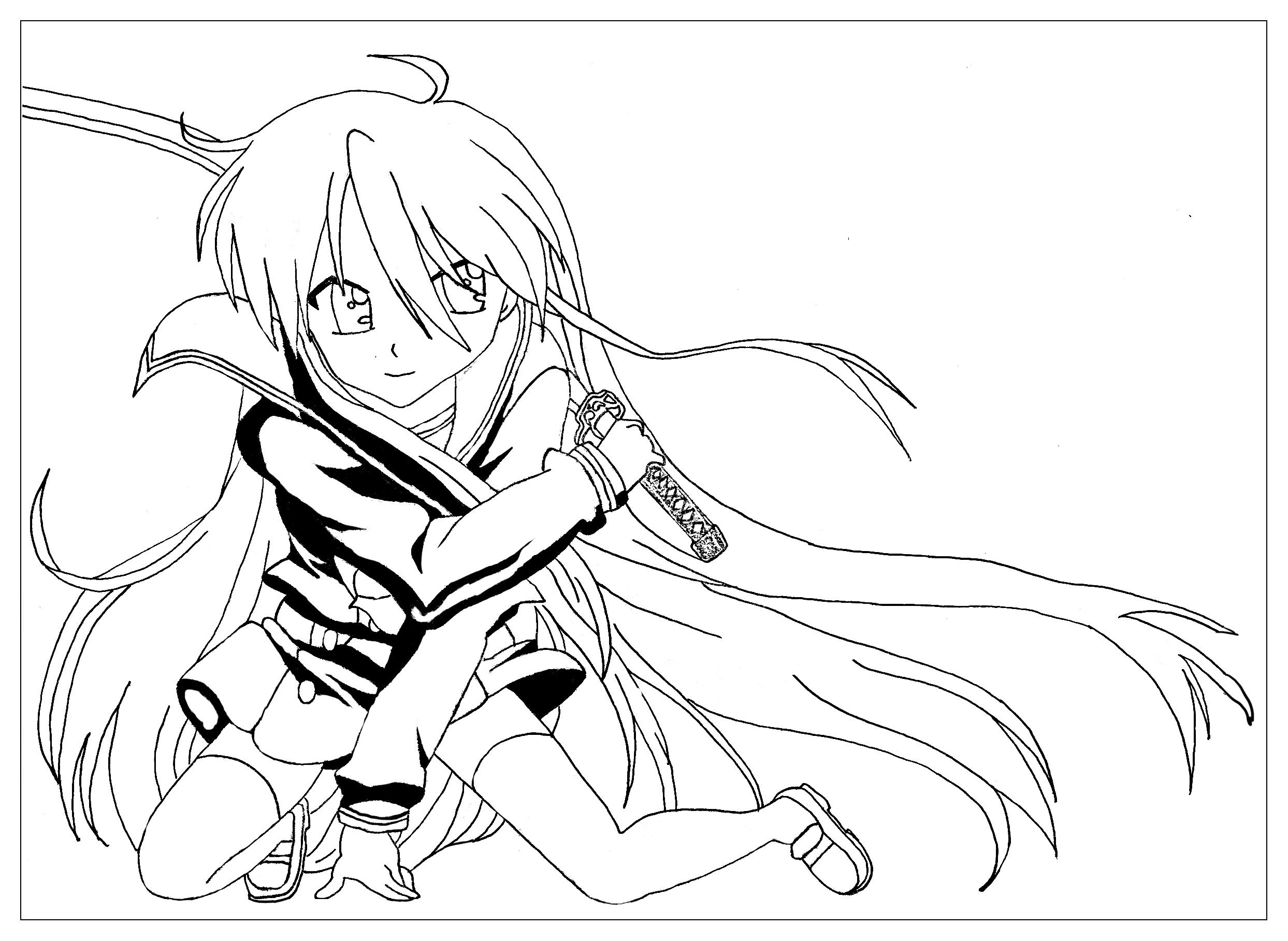 11++ Anime coloring pages for adults trends