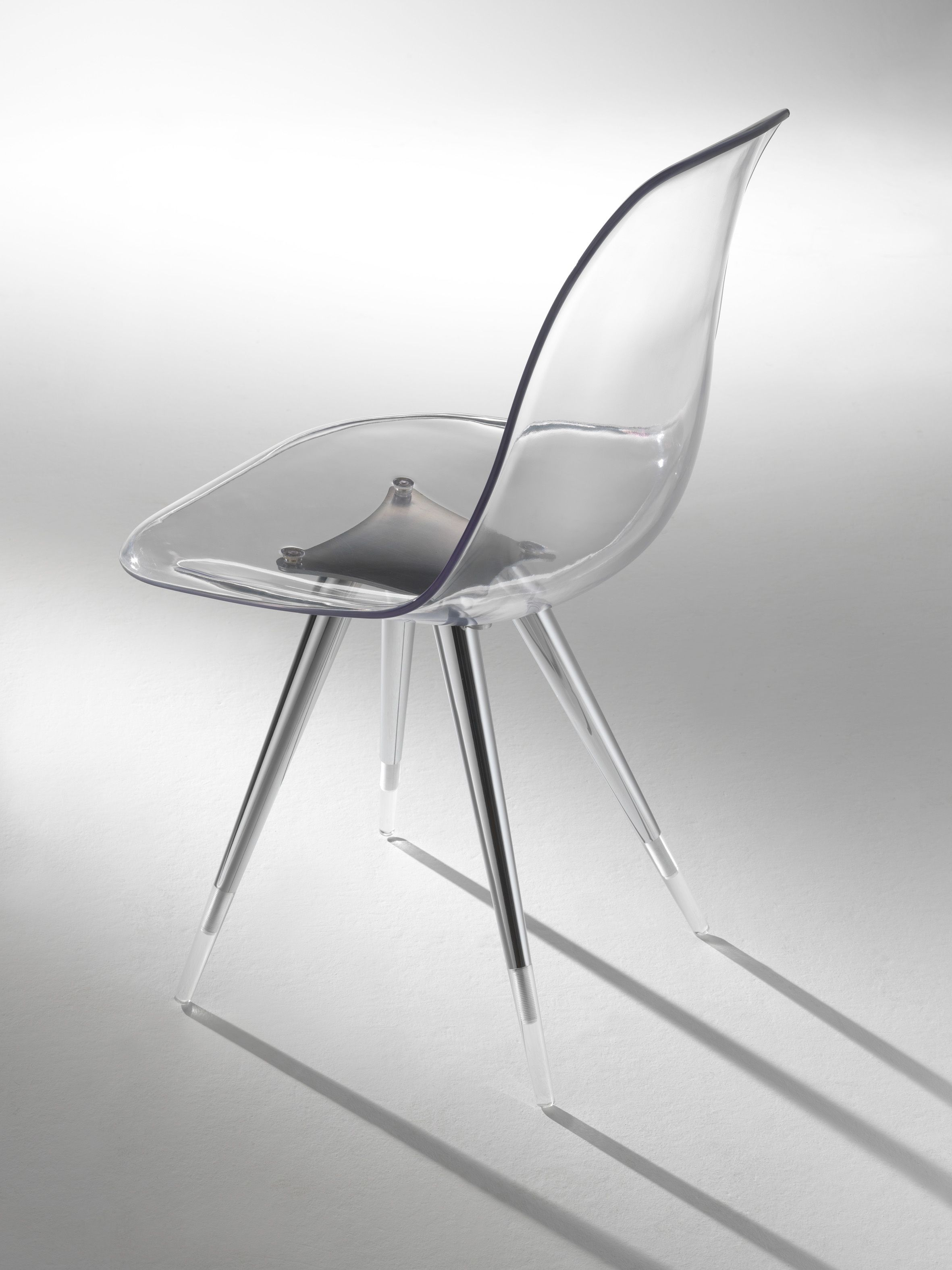 Angel Chair Polycarbonate Shell in clear transparent smoke black