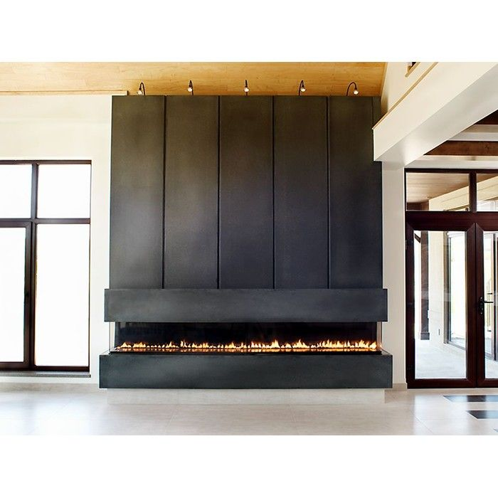 Gas Fireplace linear gas fireplace : Anthony Concrete Design Linear Concrete Fireplace Surround ...