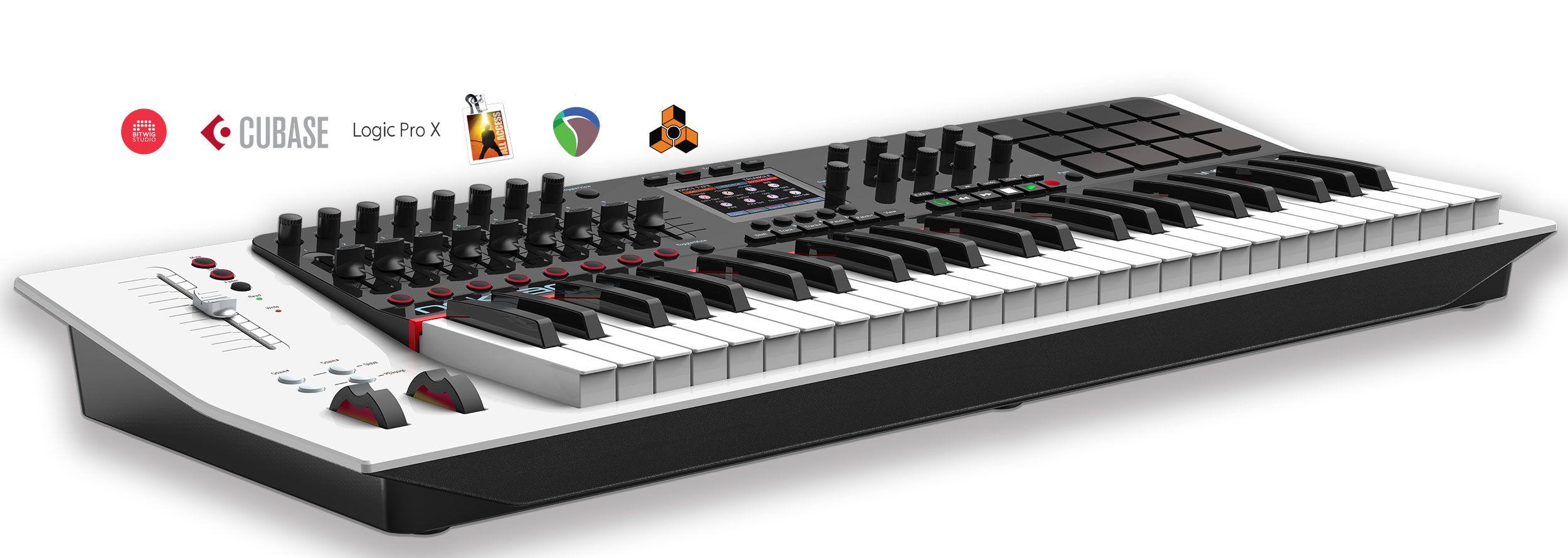 49 61 note usb midi controller keyboard bitwig studio cubase logic pro mainstage. Black Bedroom Furniture Sets. Home Design Ideas