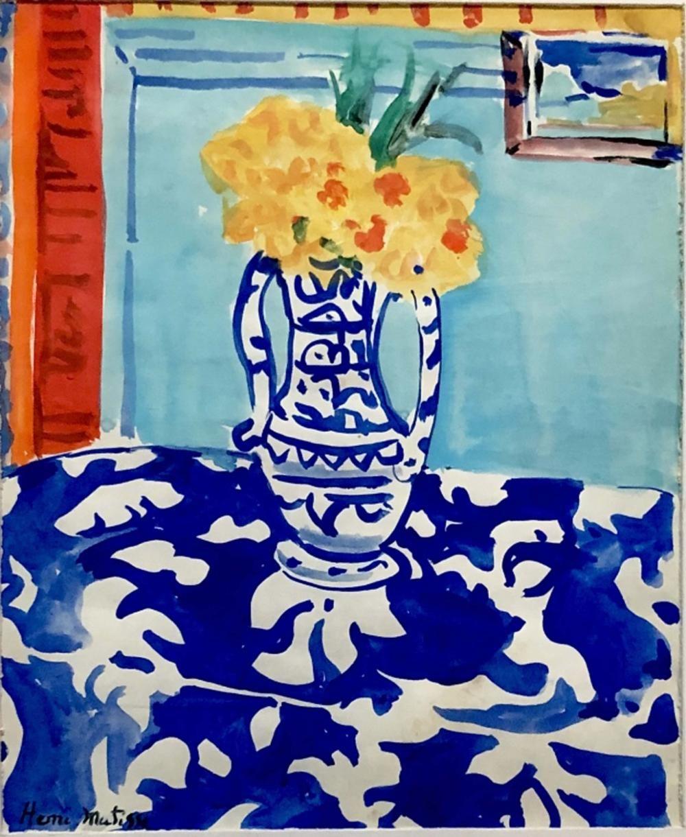 HENRI MATISSE WATERCOLOR STILL LIFE | Matisse paintings, Henri matisse,  Famous art paintings