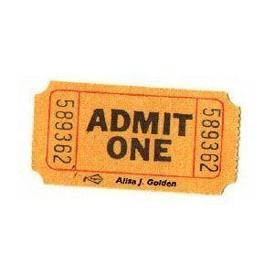 Admit One Movie Ticket Orange Aesthetic Aesthetic Stickers Movie Tickets