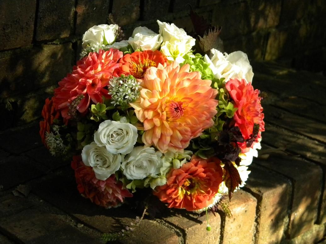 Wedding Flowers from Springwell: Fall Bouquets of Dahlias and ...