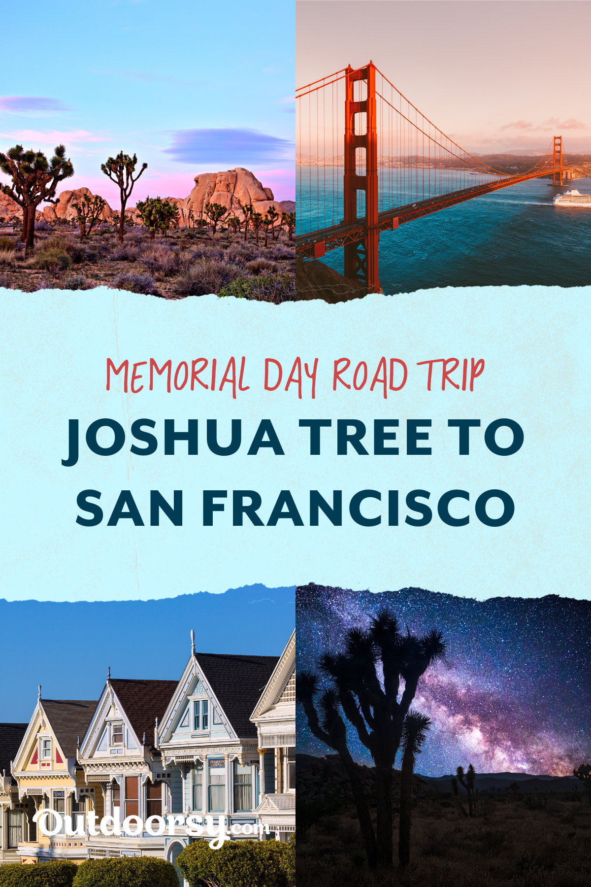 Joshua Tree To San Francisco Road Trip Outdoorsy In 2020 San Francisco Road Trip Road Trip Trip
