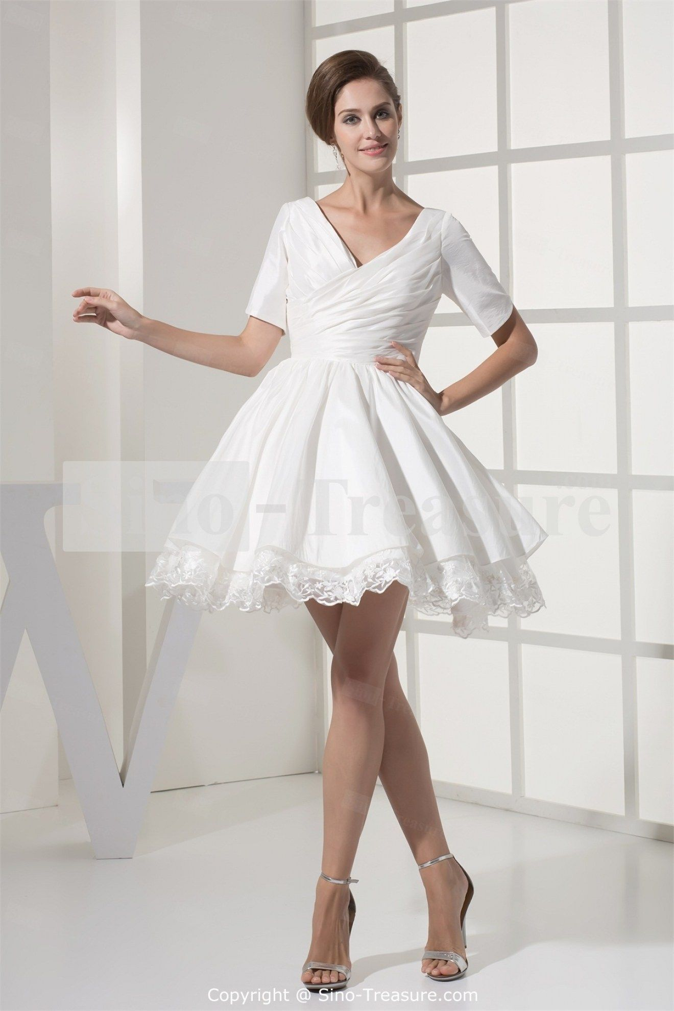 White Dresses For Wedding Reception Dress Ty With Short