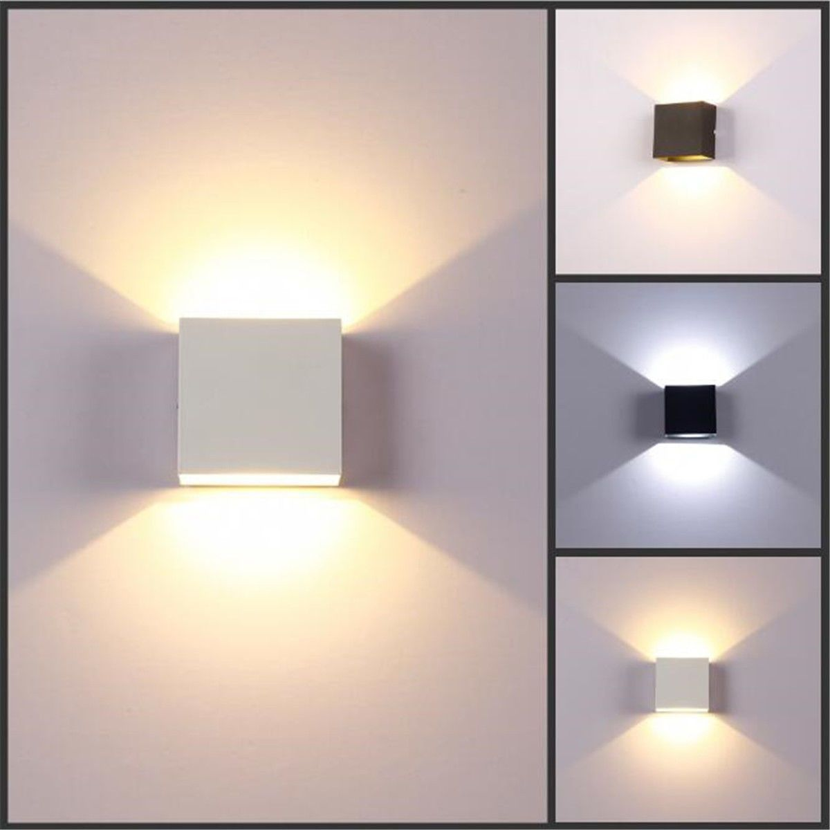 Modern 6w Led Wall Light Up Down Lamp Sconce Spot Uplighter Home Bedroom Fixture Ebay Home Gard Living Room Light Fixtures Led Wall Lamp Indoor Wall Lights