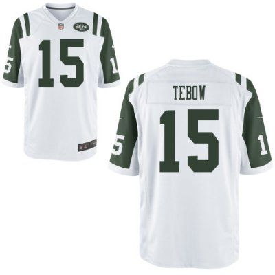 official photos 80e4b b708c New Nike Jets 15 Tim Tebow Nike Elite Jersey White NFL ...