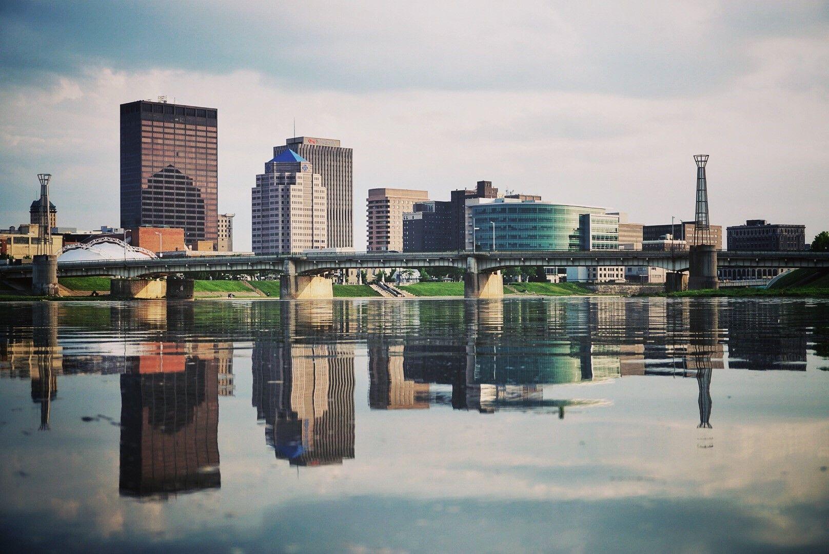 Dayton Ohio Skyline - From the Great Miami River [1616x1079][OC] | Ohio  skyline, Skyline, Dayton ohio