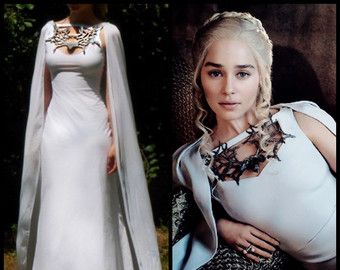 Game of thrones costume daenerys qarth dress di for Game of thrones daenerys costume diy