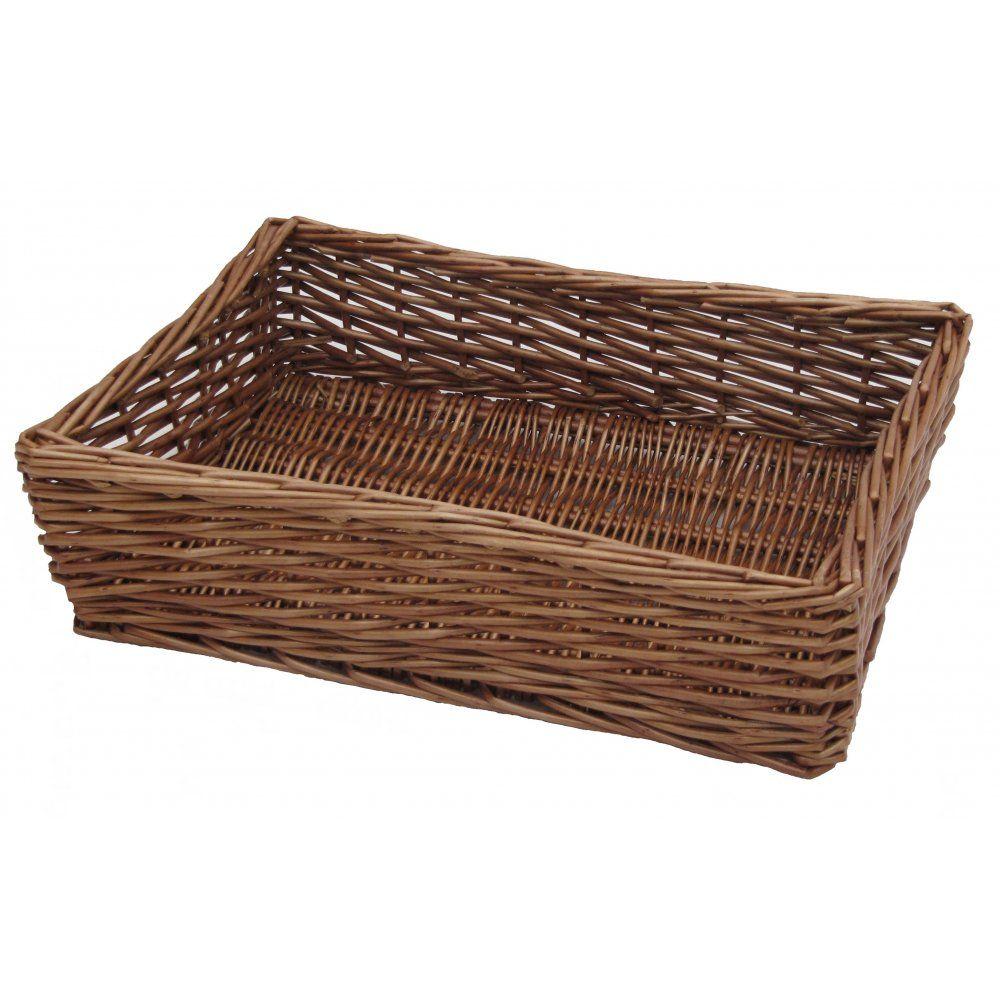 Padstow Wicker Empty Hamper Basket Tray Wicker Baskets Storage Wicker Hamper Basket Wicker Tray