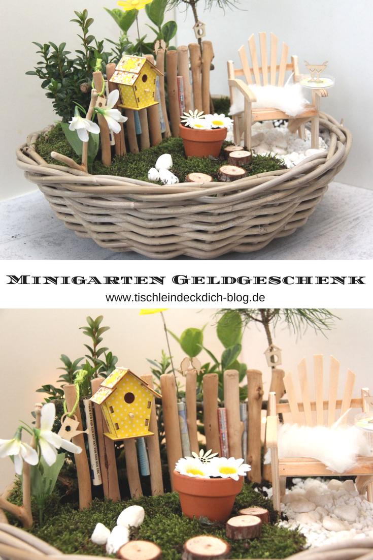 Minigarten Fruhlingshaftes Geldgeschenk Zum Runden Geburtstag Tischlein Deck Dich Geldgeschenke Geburtstag Basteln Mini Garten Geldgeschenke