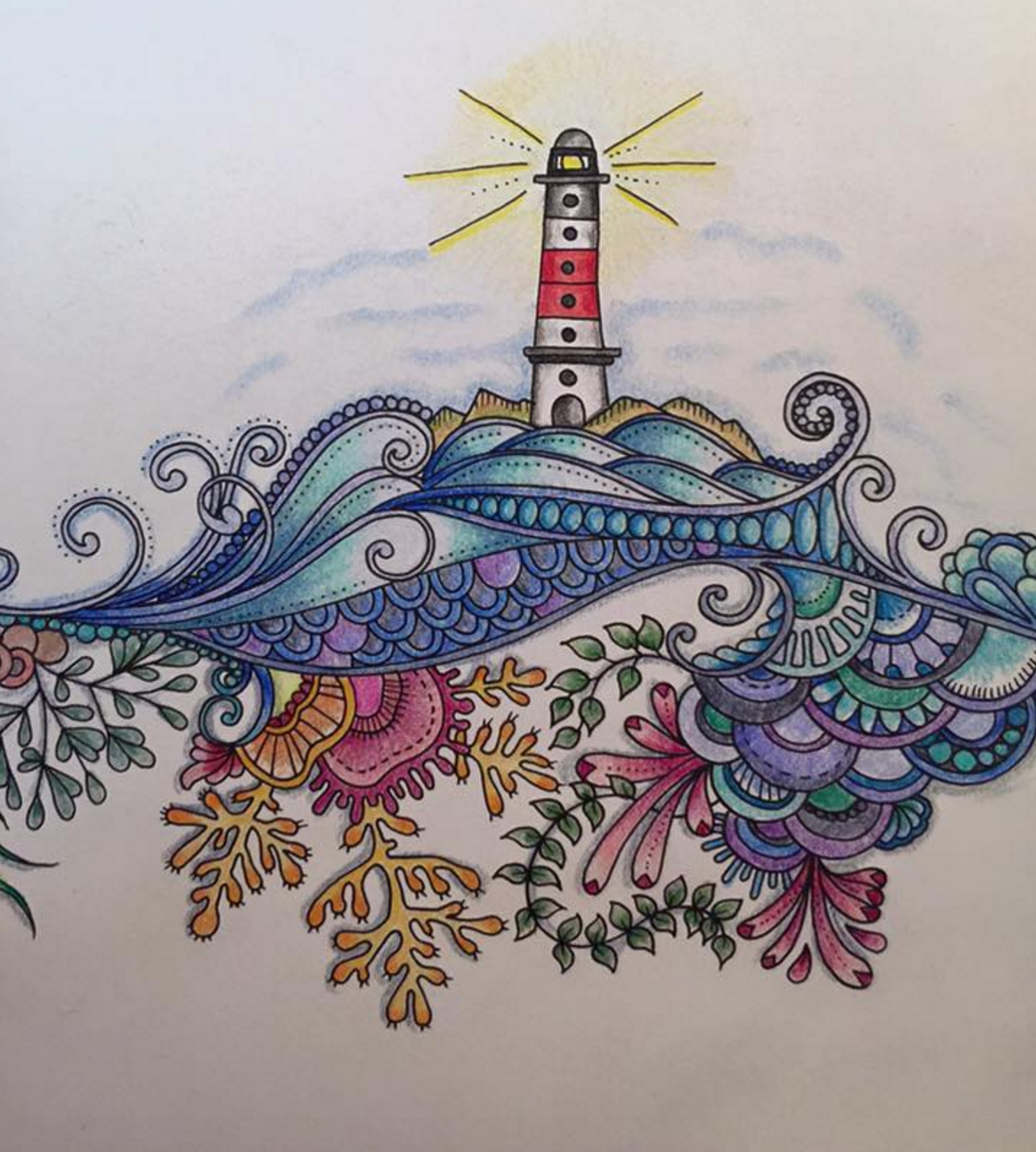 Zen ocean colouring book - Johanna Basford Lauren Gould Ocean Drawingadult Coloringcoloring Booksjohanna