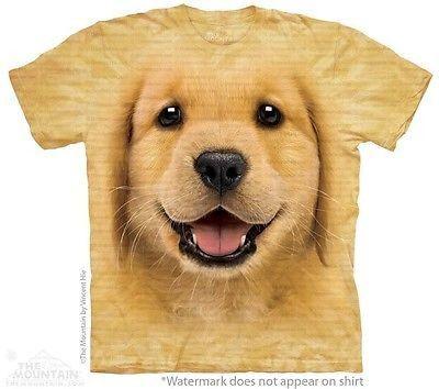 Big Face Golden Retriever Puppy T Shirt Retriever Puppy Puppy