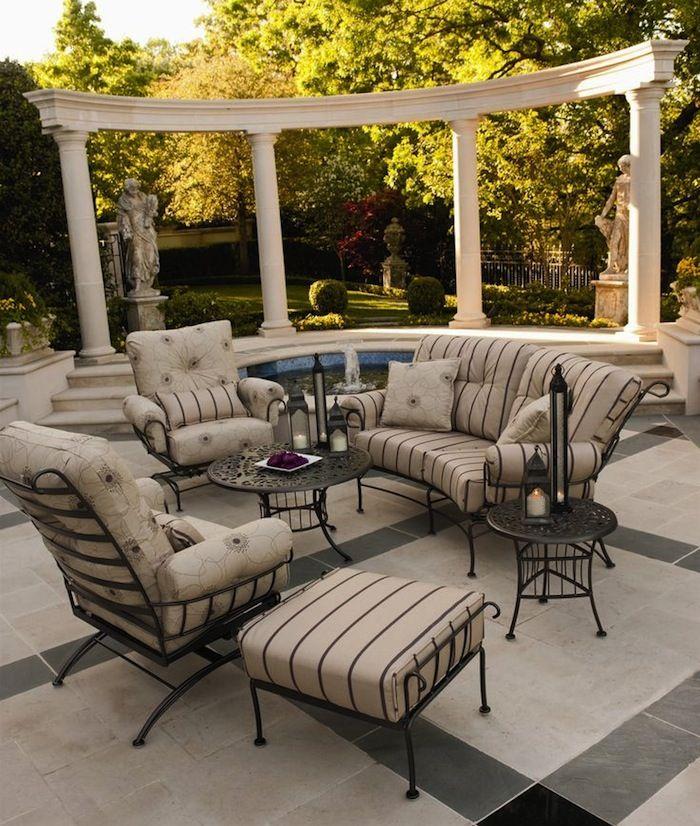 love seats in outdoor living