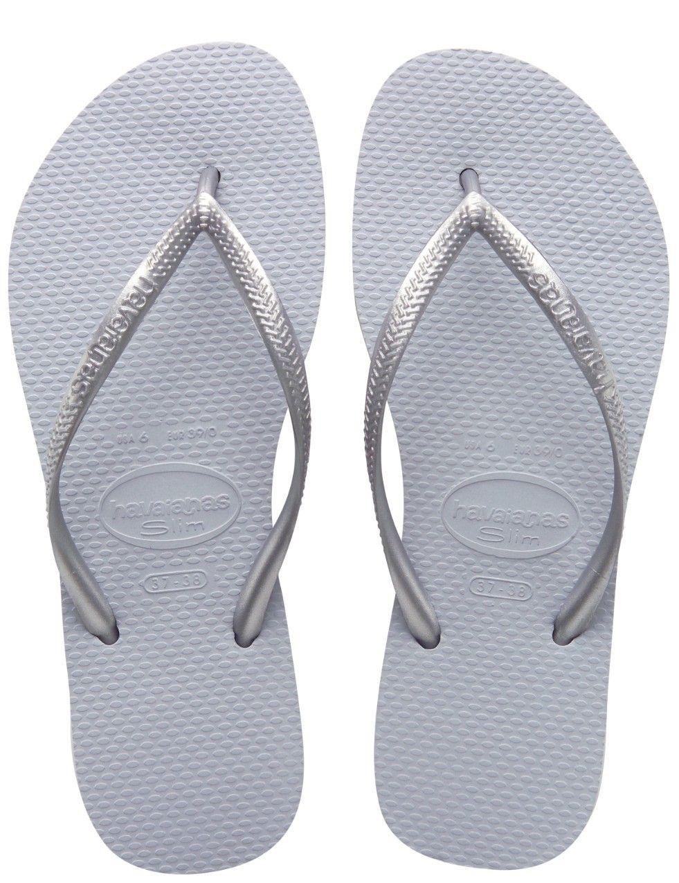 3/5] Grey Havaiana Slim Sandals