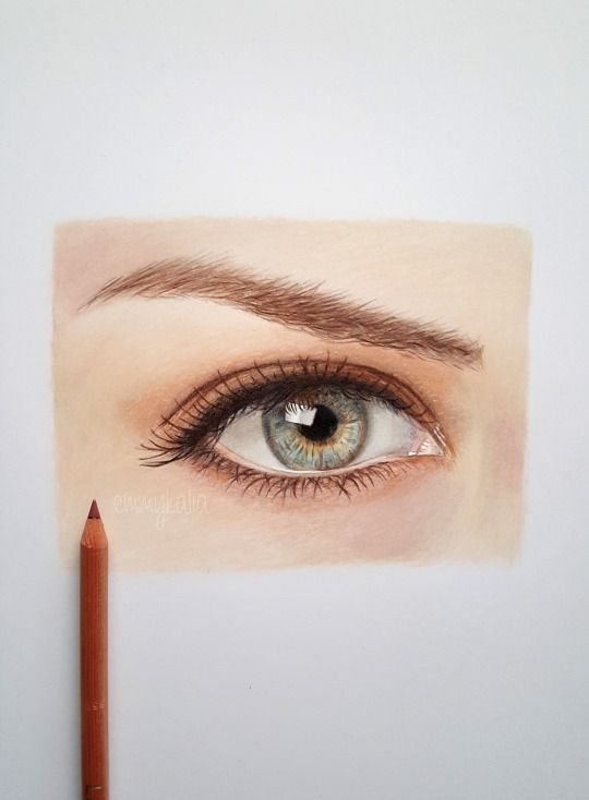 How To Draw A Realistic Eye With Colored Pencils Caran D Ache