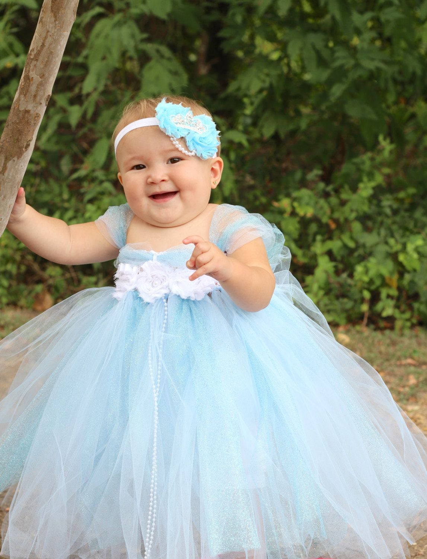 Beautiful Cinderella Tutu Dress Costume with Crown Headband for Baby ...