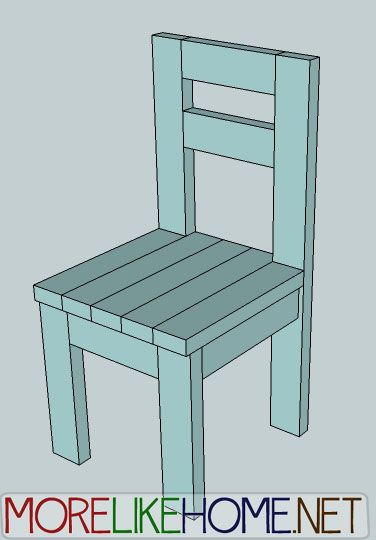 Day 4 Build A Simple Chair With 2x4s Wood Chair Diy Dining