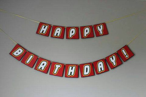 Lego Theme Birthday Banner