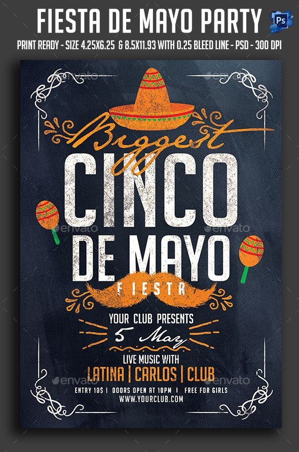 cinco de mayo flyer template psd  download here