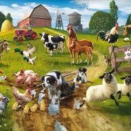 Fototapet Distractie la Ferma (Farmyard Fun)