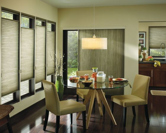 best blinds to keep heat out venetian blinds bring the outside in but keep heat out of this intimate dining room spaceapplause honeycomb shades with topdownbottomup and vertiglide operation